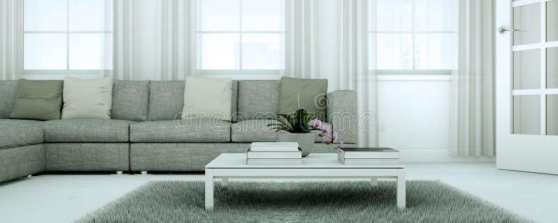 Appartement skandinavian lumineux moderne de conception intérieure image libre de droits