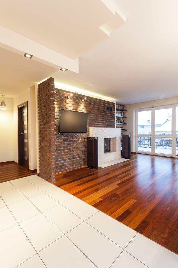 Appartement spacieux - intérieur photo libre de droits
