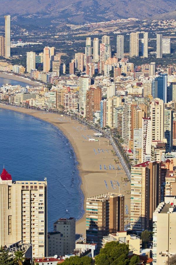 Appartements à Benidorm Alicante photo stock