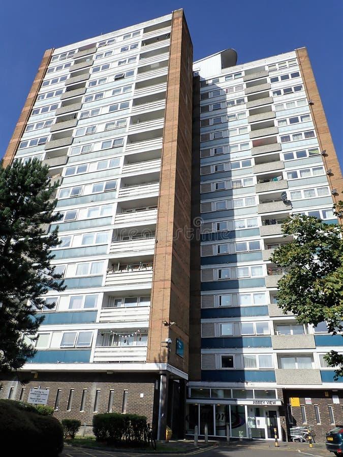 Appartements ayant beaucoup d'étages chez Abbey View, manière de Garsmouth, Watford images libres de droits