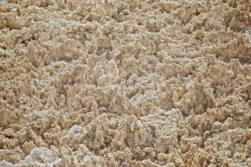 Appartements Badwater Death Valley la Californie de sel de cristaux de sel photos stock