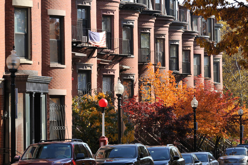 Appartements d'extrémité du sud de Boston photographie stock libre de droits
