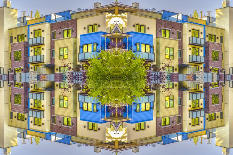 Appartements dans Park City Utah sur l'axe de la symétrie illustration de vecteur