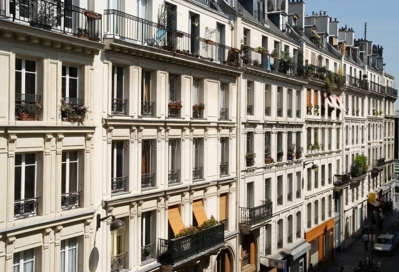 Appartements de Paris photographie stock libre de droits