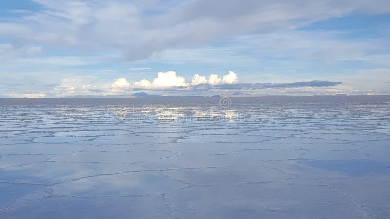 Appartements de sel d'Uyuni photos stock