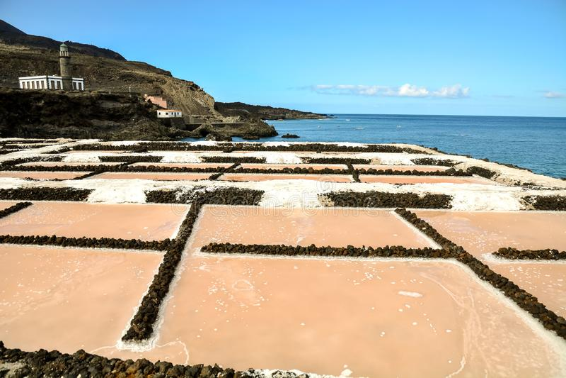 Appartements de sel dans les ?les de Canry photographie stock libre de droits