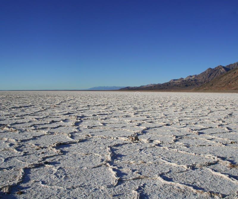 Appartements de sel de Death Valley images stock