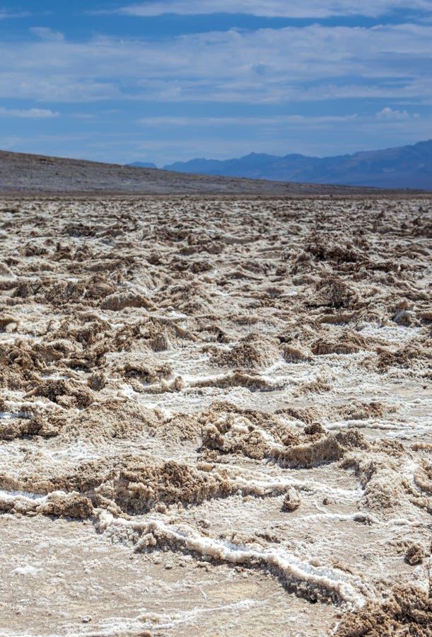 Appartements de sel en parc national de Death Valley en Californie, S uni photo libre de droits