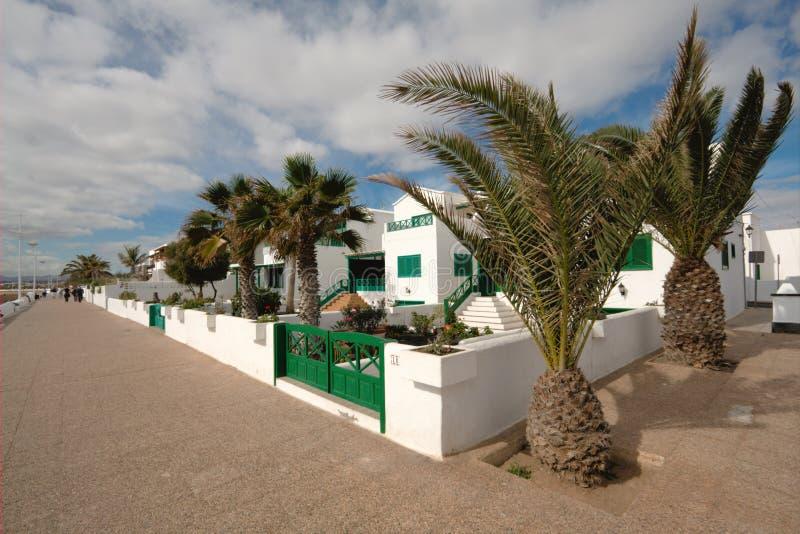 Appartements de vacances de bord de la mer photo stock