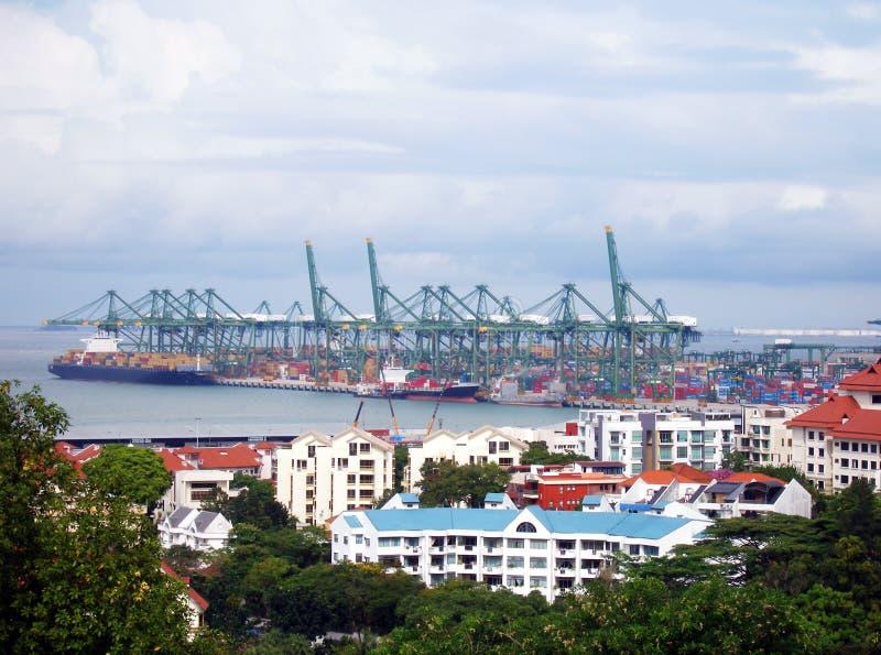 Appartements et port de Harborfront images libres de droits
