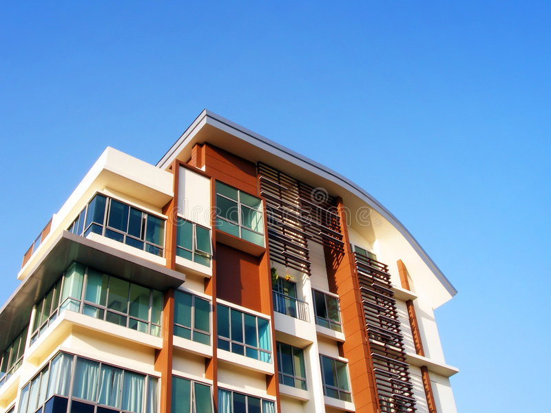 Appartements résidentiels neufs photo libre de droits