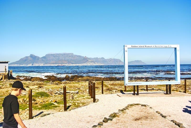 Appartheid touristique de visite de prison d'île de Robben photographie stock libre de droits