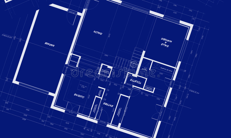 Appartment Blueprints. Blueprints showing distribution of an appartment stock illustration