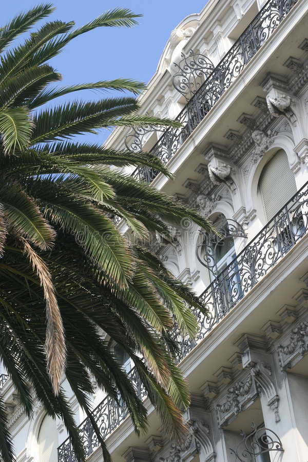 Appartment building. Classical-style appartment building in Nice, France stock photography