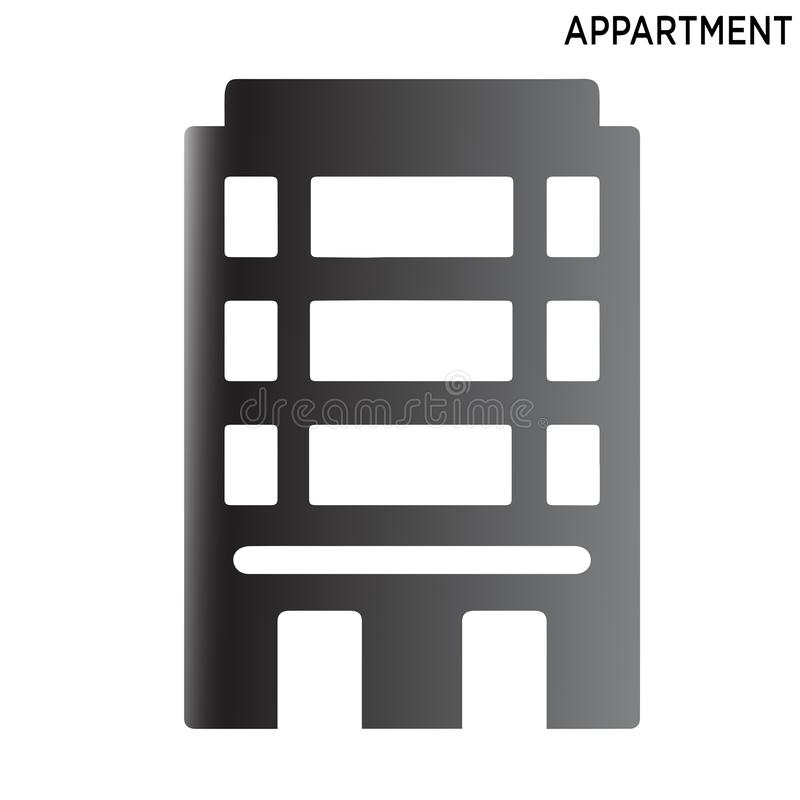Appartment icon symbol design isolated on white background royalty free illustration