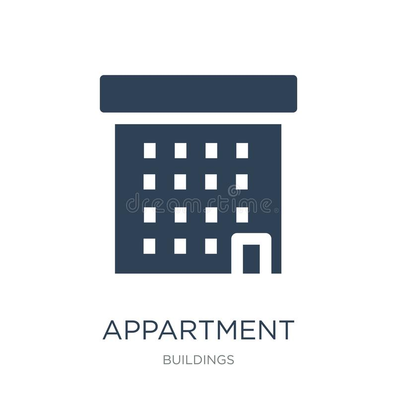 Appartment icon in trendy design style. appartment icon isolated on white background. appartment vector icon simple and modern. Flat symbol for web site, mobile vector illustration