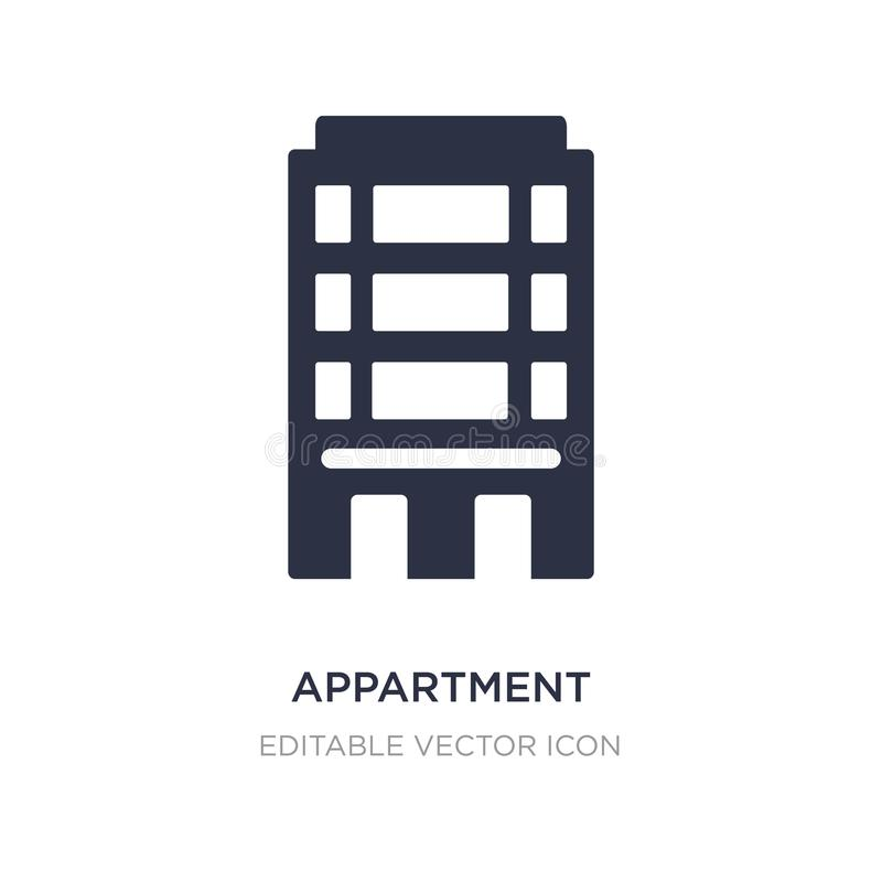 Appartment icon on white background. Simple element illustration from Buildings concept. Appartment icon symbol design stock illustration
