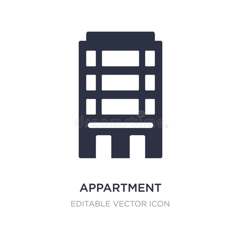Appartment icon on white background. Simple element illustration from Buildings concept. Appartment icon symbol design vector illustration