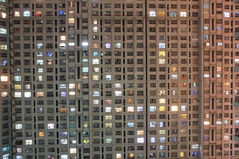 Appartment at night. Appartment in shanghai at night stock photos