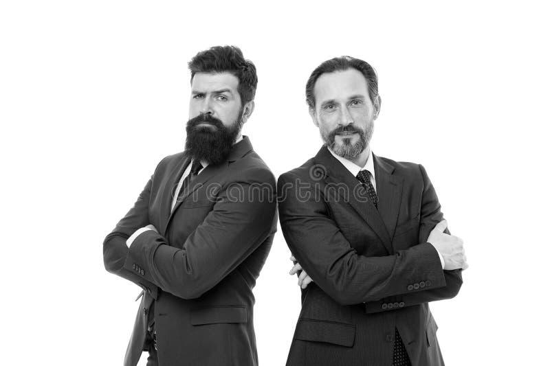 Appassionato circa il loro progetto Fondo bianco dei riusciti imprenditori degli uomini Squadra di affari Gente di affari di conc fotografia stock libera da diritti
