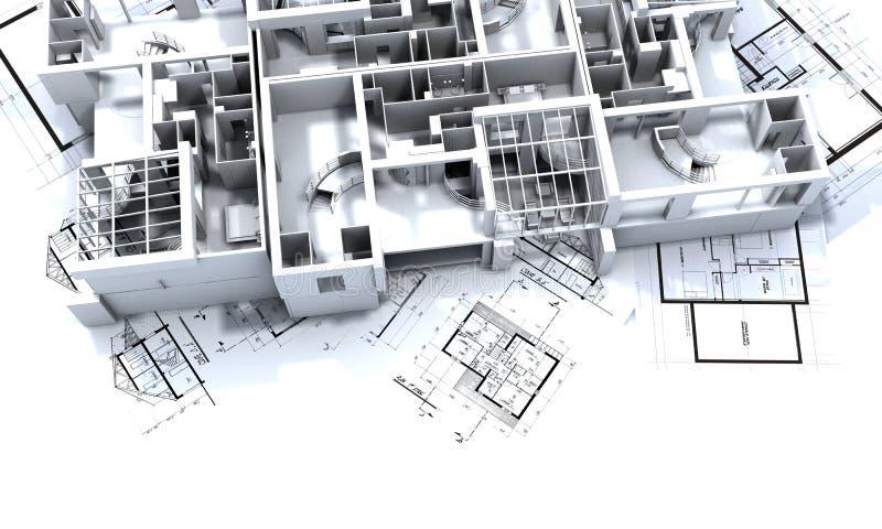 appatmen图纸大模型 向量例证
