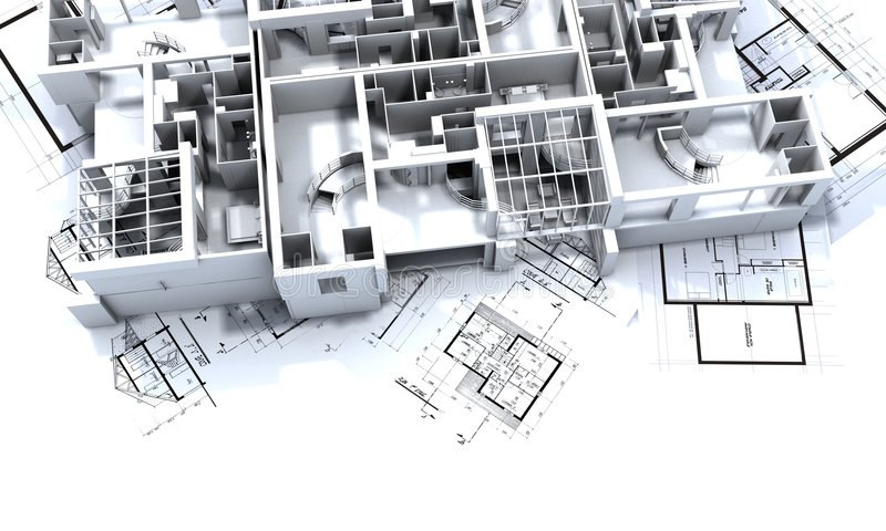 appatmen ritningmodellen vektor illustrationer