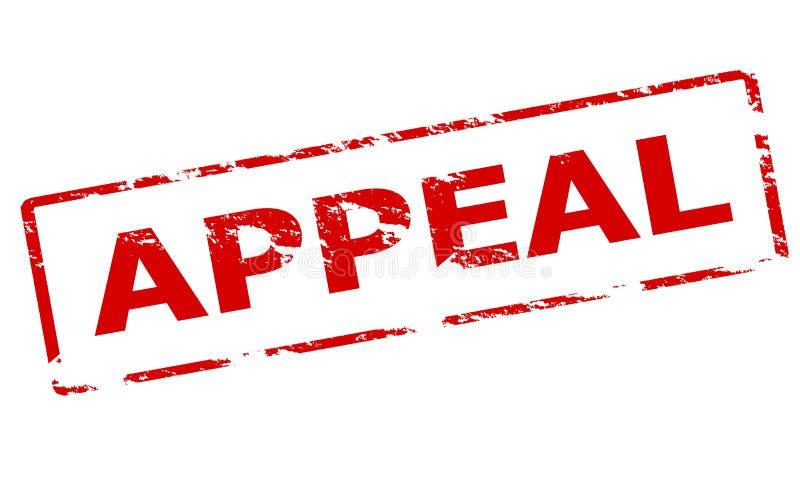Appeal. Rubber stamp with word appeal inside, illustration vector illustration