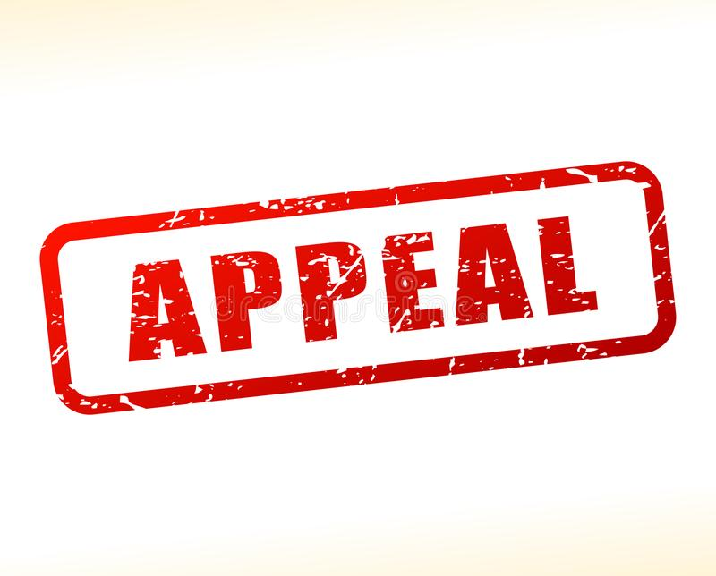 Appeal text buffered. Illustration of appeal text buffered on white background vector illustration