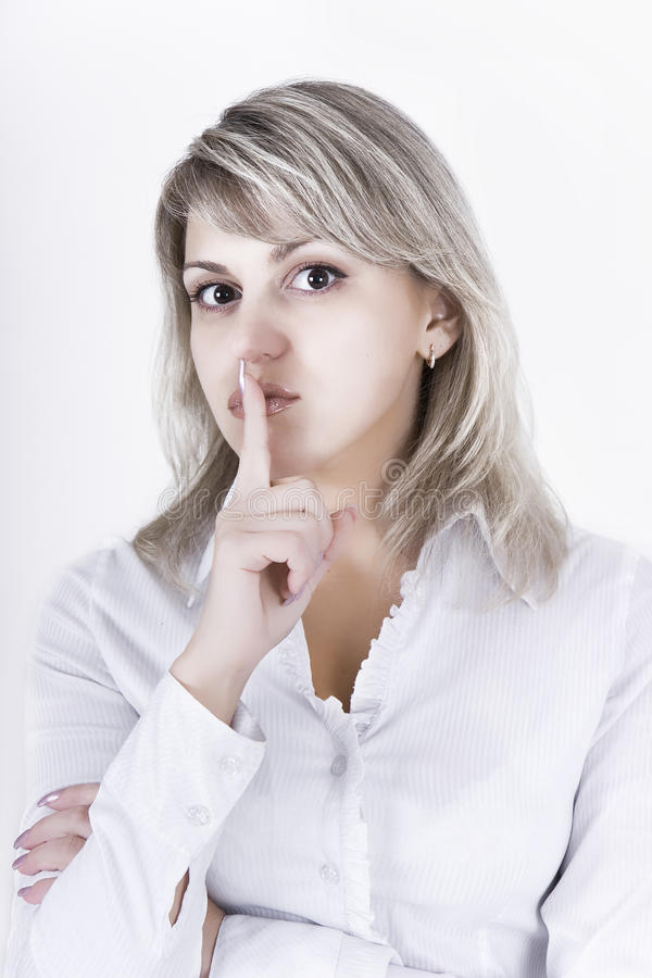 Appeal To Silence Royalty Free Stock Photo