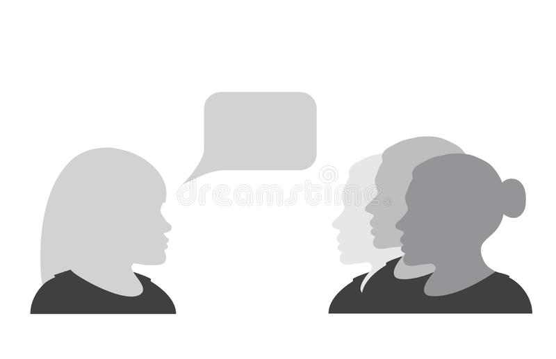 Appeal to the women vector illustration