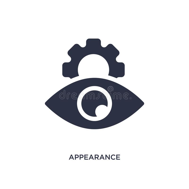 appearance icon on white background. Simple element illustration from human resources concept royalty free illustration