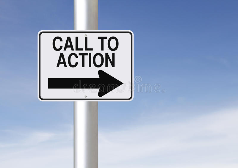 Appel à l'action photo libre de droits