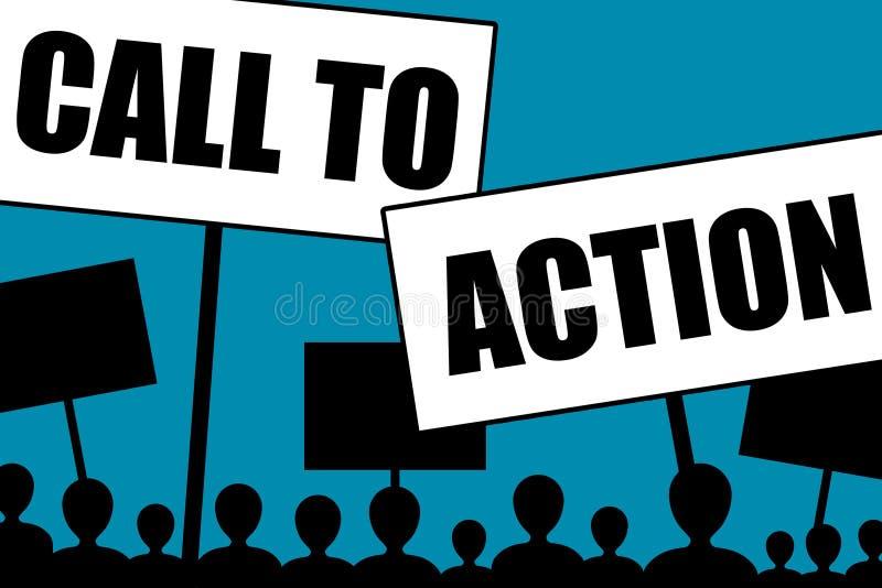 Appel à l'action illustration stock