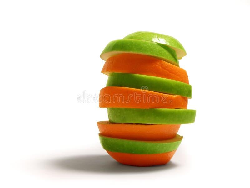 Appel & Sinaasappel royalty-vrije stock foto's