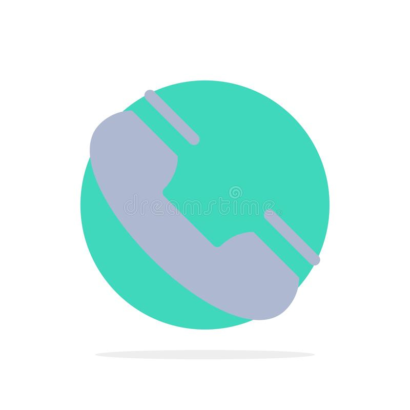 Appel, contact, téléphone, téléphone, icône de couleur de Ring Abstract Circle Background Flat illustration stock