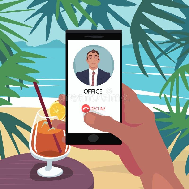 Appel de rejet de patron dans les vacances illustration stock