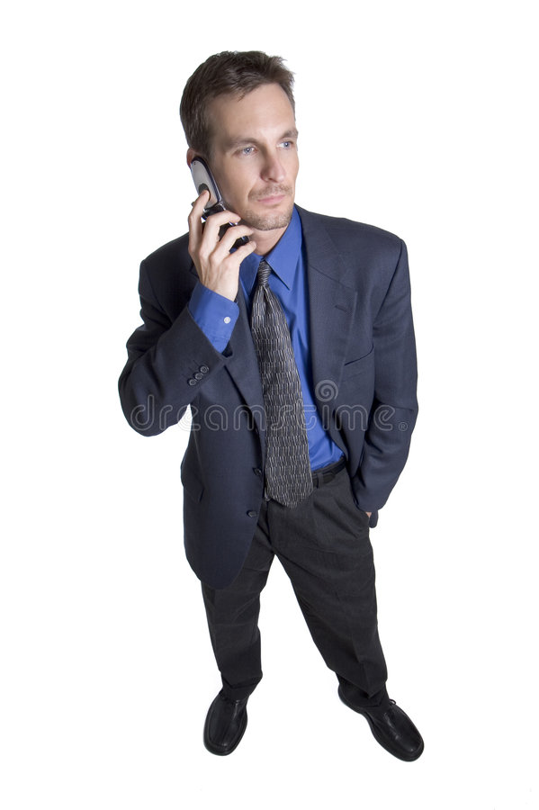 Appel de secteur d'affaires de la téléphonie mobile photo libre de droits