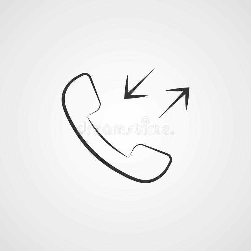 appel de tube de téléphone d'icône, vecteur moderne d'illustration d'APP illustration stock