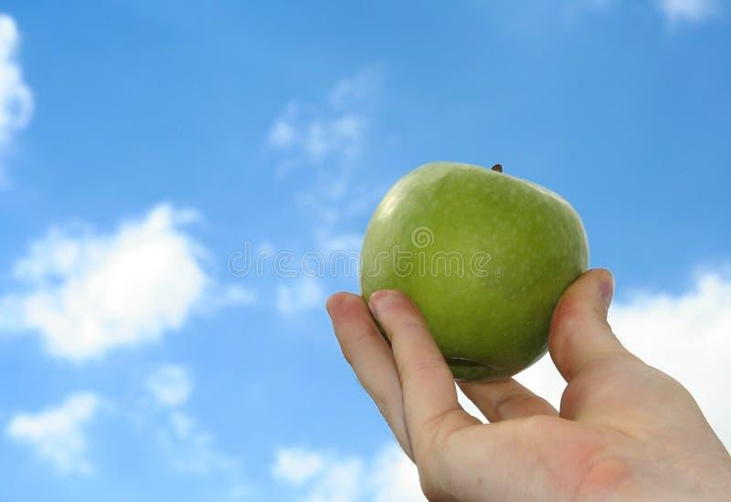 Appel en hemel stock afbeelding