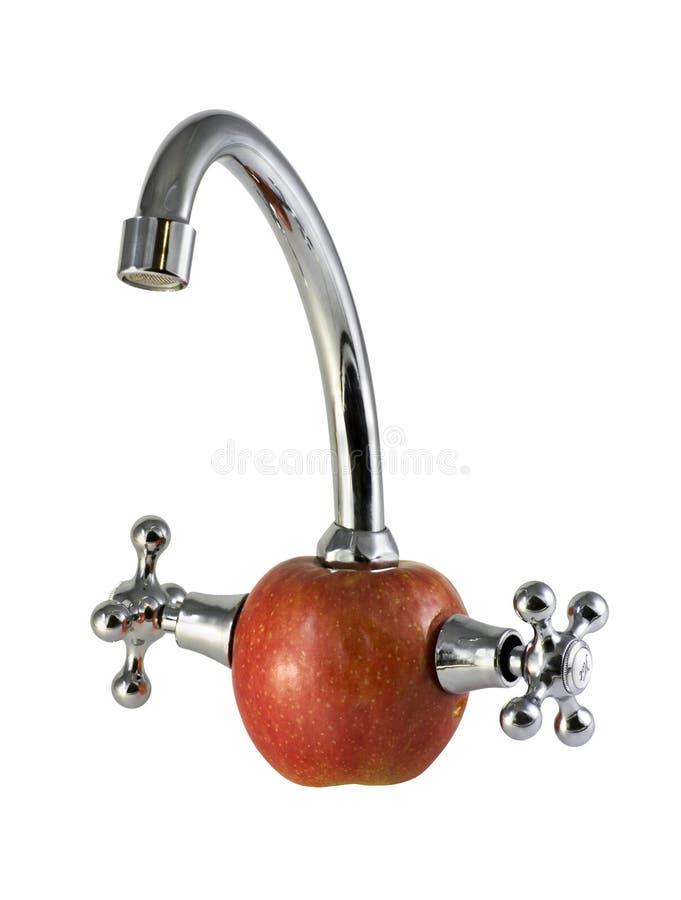 Appel en loodgieterswerk stock foto's