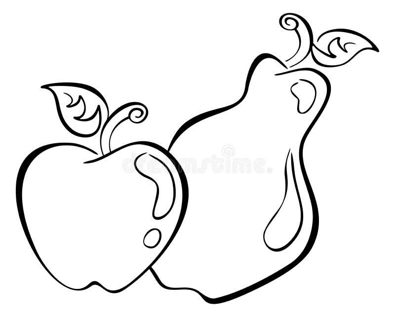 Appel en peer royalty-vrije illustratie