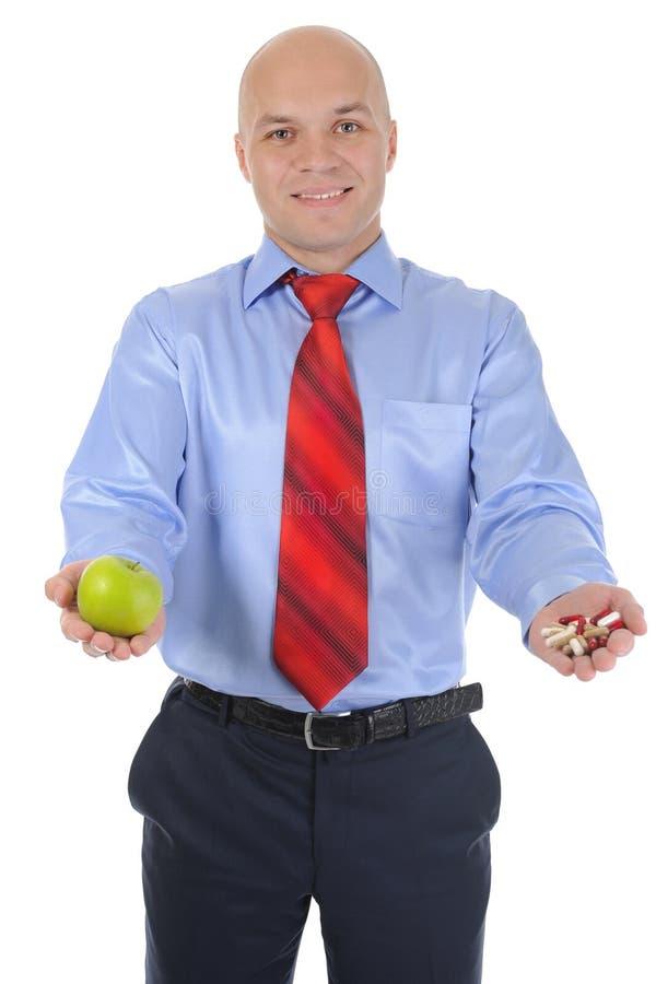 Appel en pillen royalty-vrije stock afbeeldingen