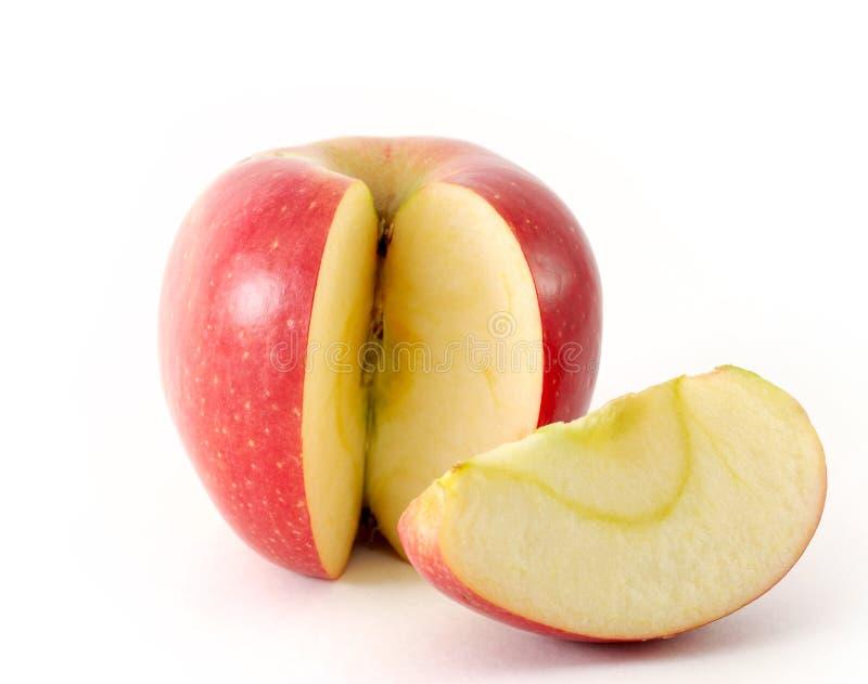 Appel en zijn plak stock foto
