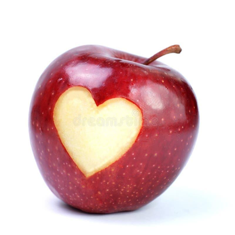 Appel, hart royalty-vrije stock fotografie