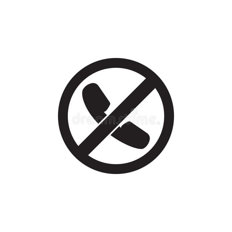 Appel interdit, icône interdite de signe illustration libre de droits