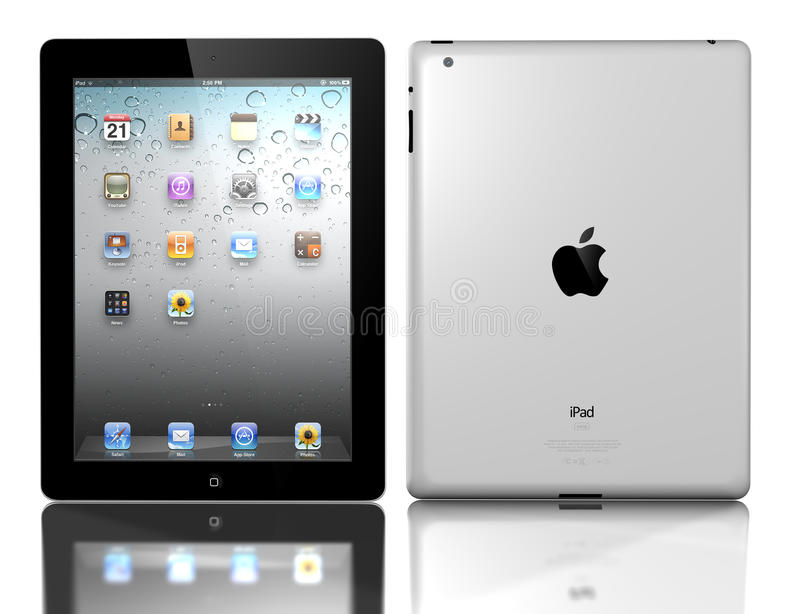 Appel iPad 3 royalty-vrije illustratie