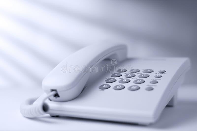 Appel la ligne terrestre ou le téléphone terrestre images libres de droits