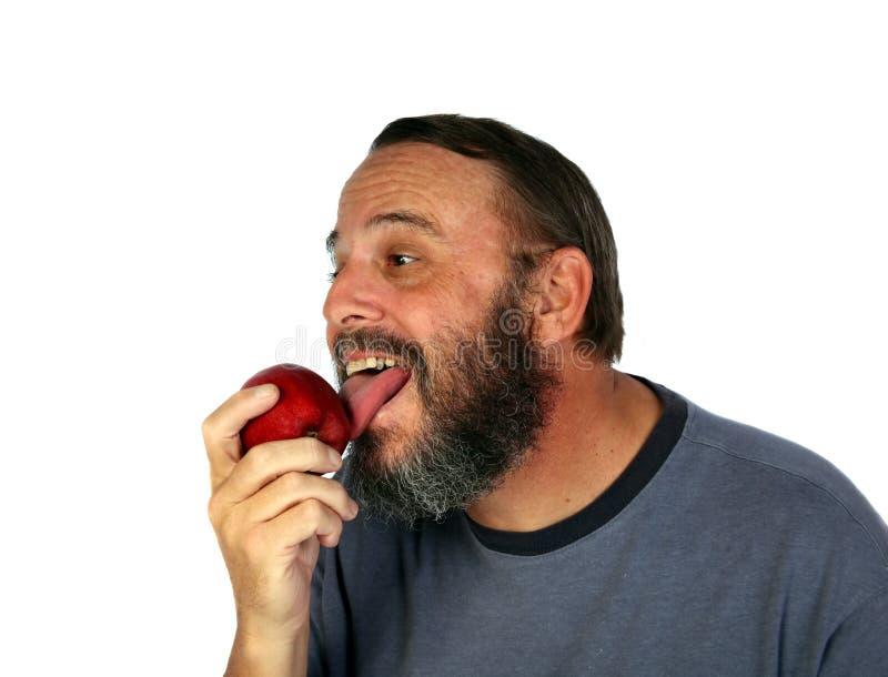 Appel licker stock foto's