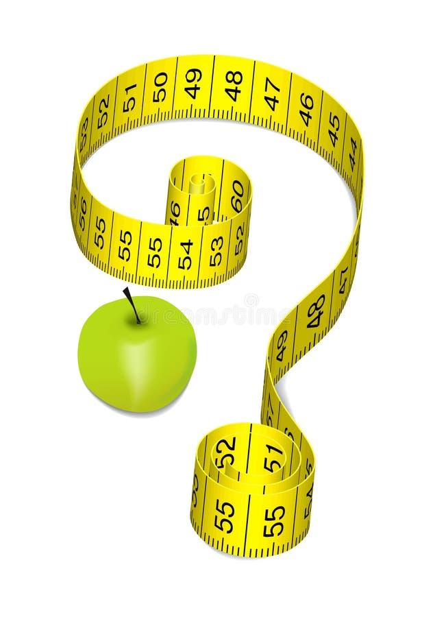 Appel op een dieet stock illustratie