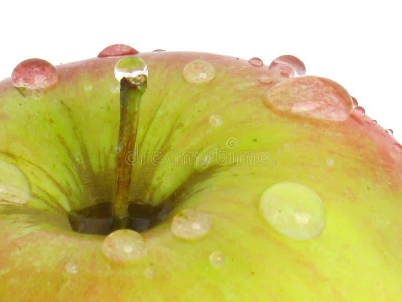 Appel op witte achtergrond. stock afbeeldingen